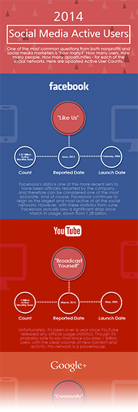 Social Media Active User Infographic