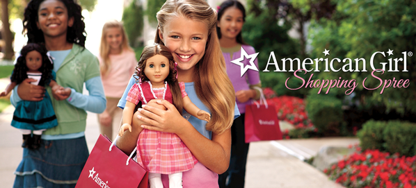 American Girl Shopping Spree silent auction gift baskets