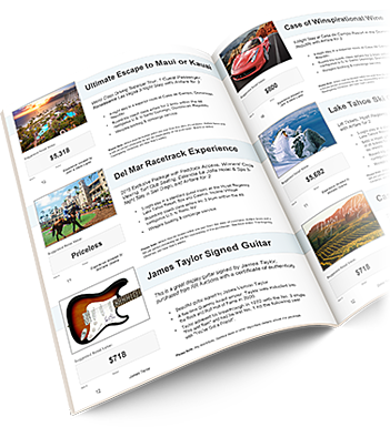 example page from charity auction catalog template