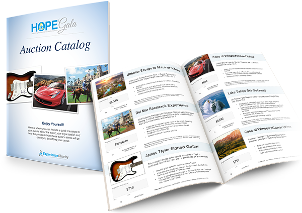 build your own charity auction catalog template auction brochure template