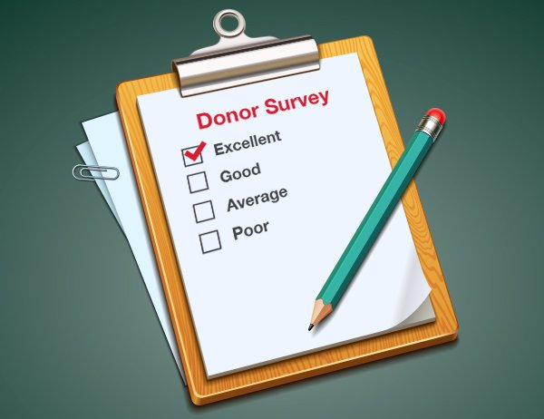 Engage in donor surveys to keep donors engaged