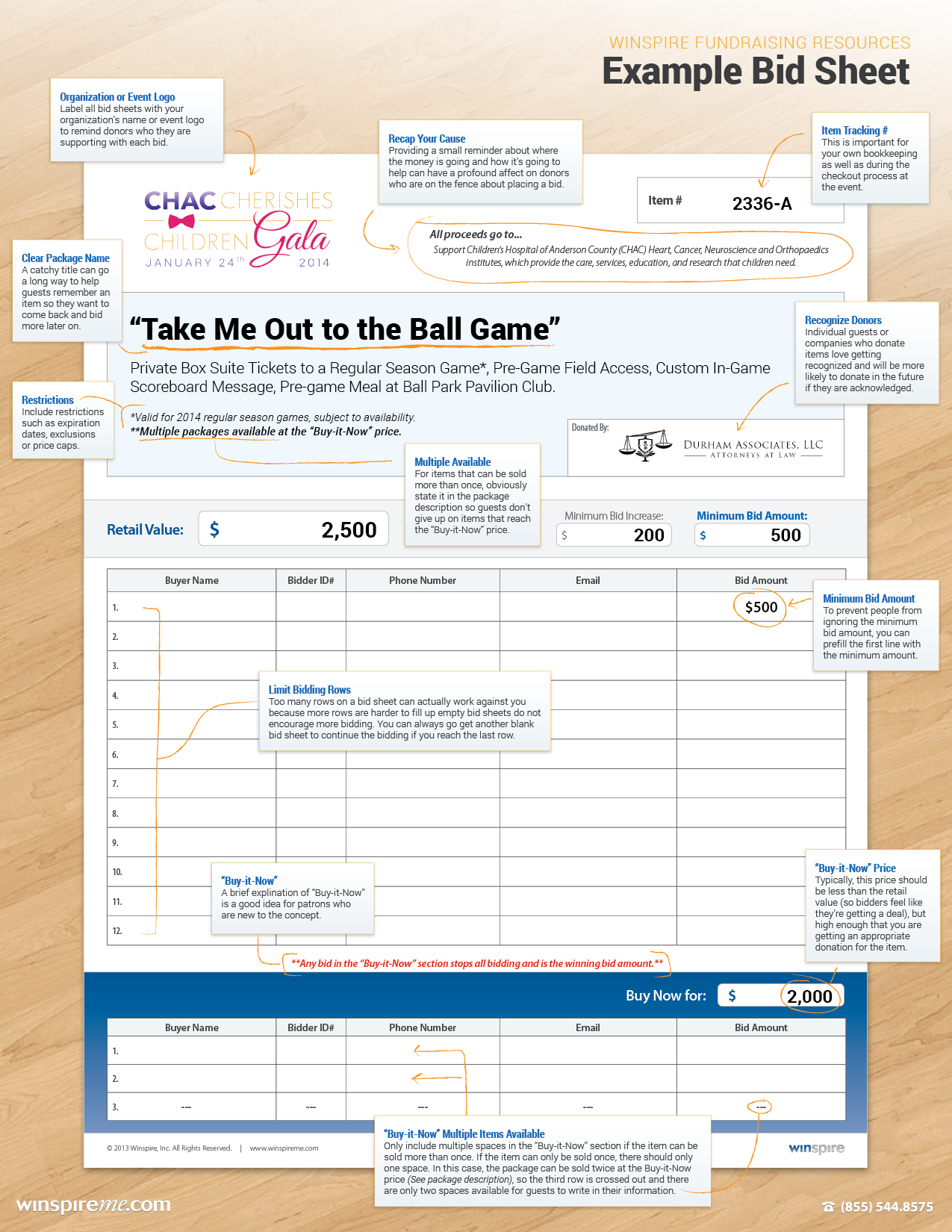 Bid Sheets 101: Improve Your Silent Auction With Better Bid Sheets
