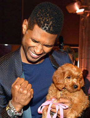 Usher Wins Auction Puppy