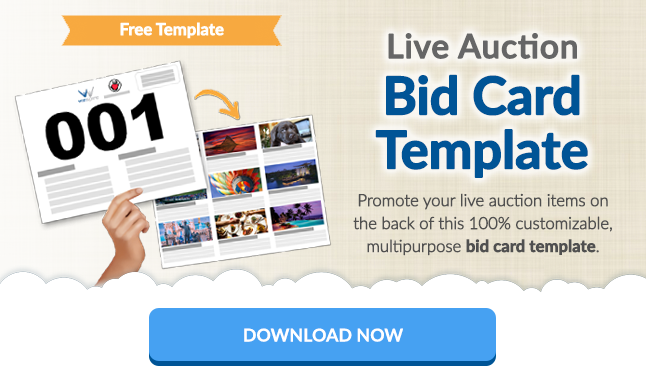 Live Auction Bid Cards Free Templates