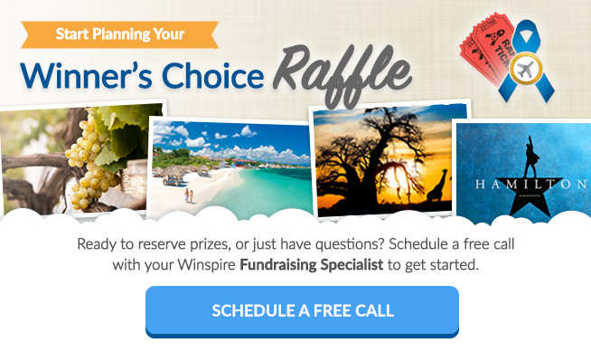 "Raise $10,000 with a ""Winner's Choice"" Fundraising Raffle"
