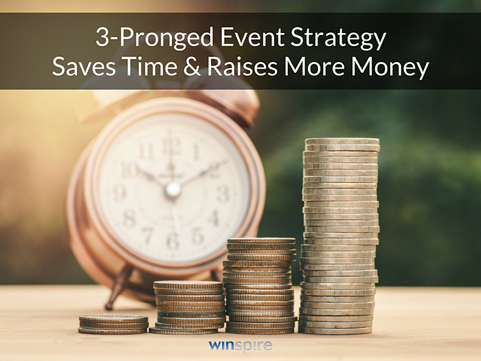 Save Time and Raise More Money: The 3-Pronged Event Strategy