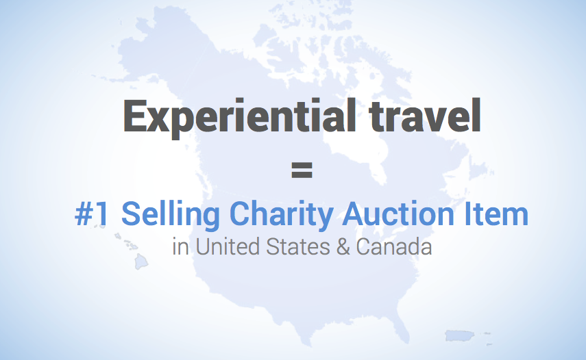 Experiential Travel is the #1 selling charity auction item in the US and Canada