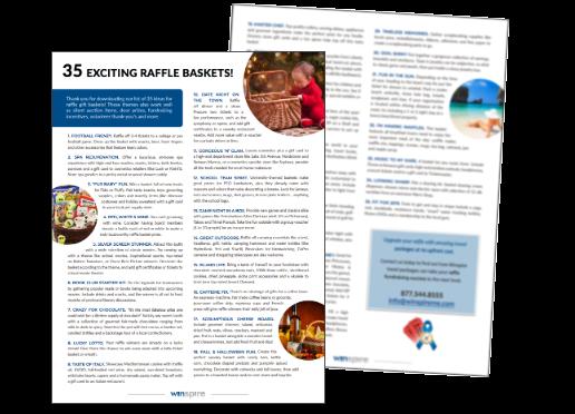 35 Raffle Basket Ideas PDF Preview