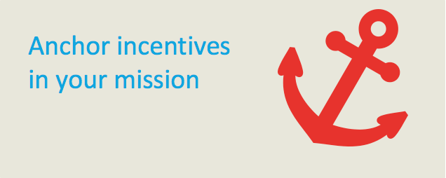 Add incentives to your charity's mission