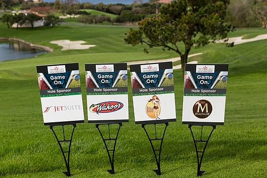 Charity event sponsor logos