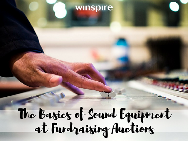 Sound Equipment at Fundraising Auction