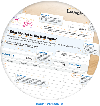 Sample silent auction bid sheet template