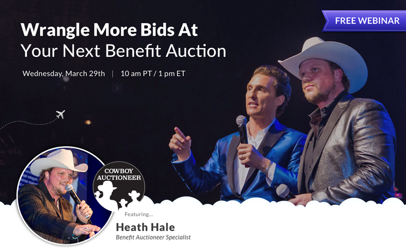 Get more bids at your next benefit auction