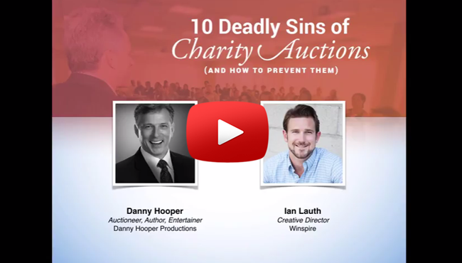 10 Deadly Sins of Charity Auctions (And How to Prevent Them) - Webinar