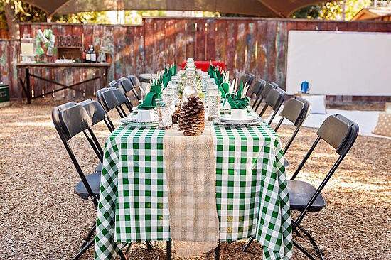 Table During a Glamping Gateway Summer Fundraiser
