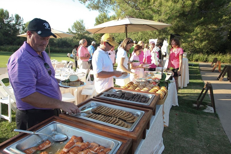 Charity golf tournament catered dinner