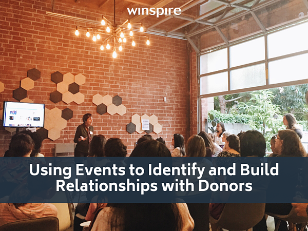 Using Events to Identify and Build Relationships with Donors