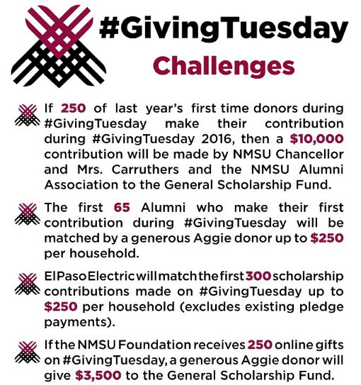 NMSU Matching Gifts #GivingTuesday Landing Page