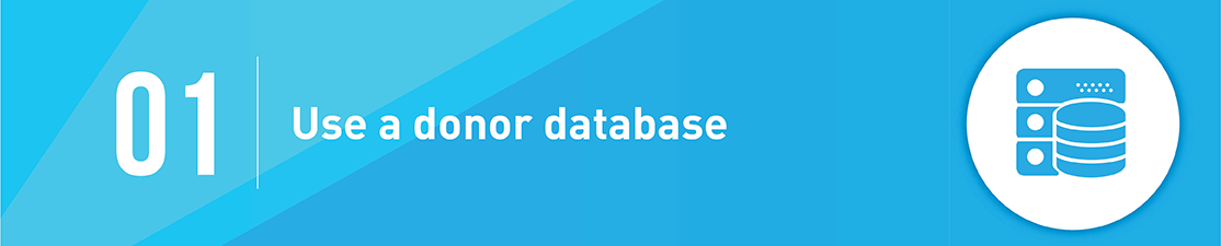 Use a Donor Database