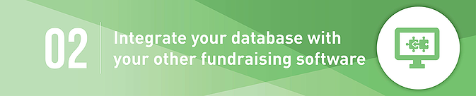 Integrate your donor database with other fundraising software