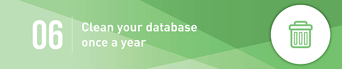 Clean your database once a year