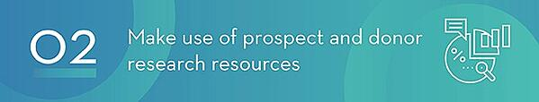 Use Prospect and Donor Research Resources