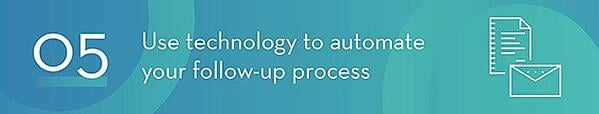 Automate Follow-Up Process with Technology