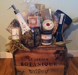 Paris silent auction gift baskets