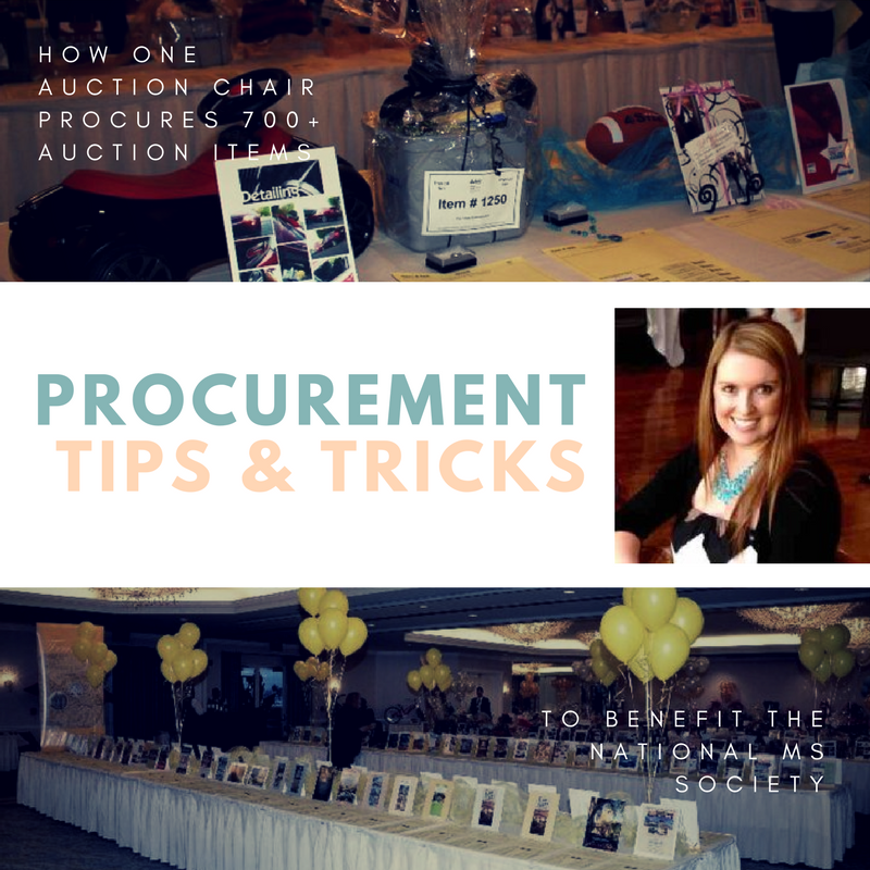 Silent Auction Item Procurement Tips from Heather Dean Presnall, National MS Society