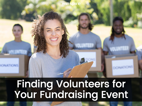 Finding Volunteers for your Fundraising Event