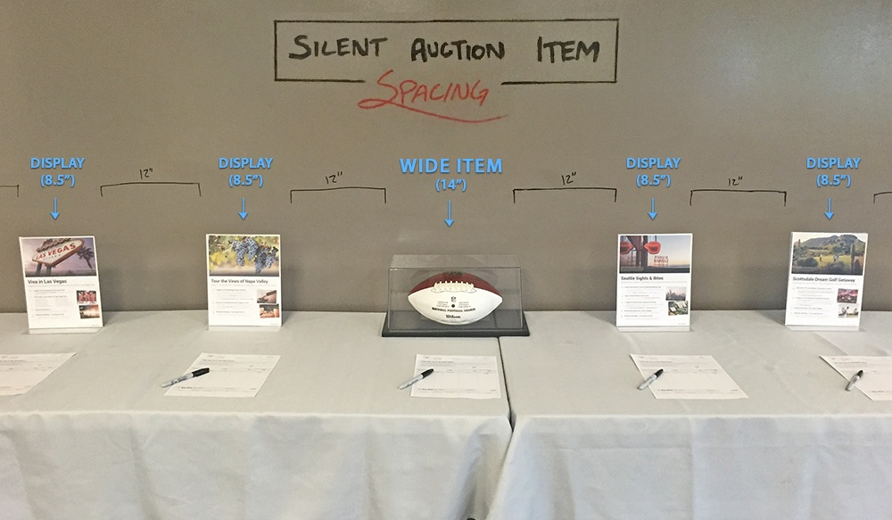 silent auction spacing  what to do when you run out of room