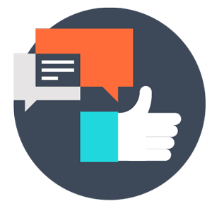 Social media for nonprofits - thumbs up icon