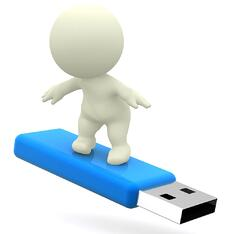 Bring a flash drive with auction notes, schedules, power points, music and more.