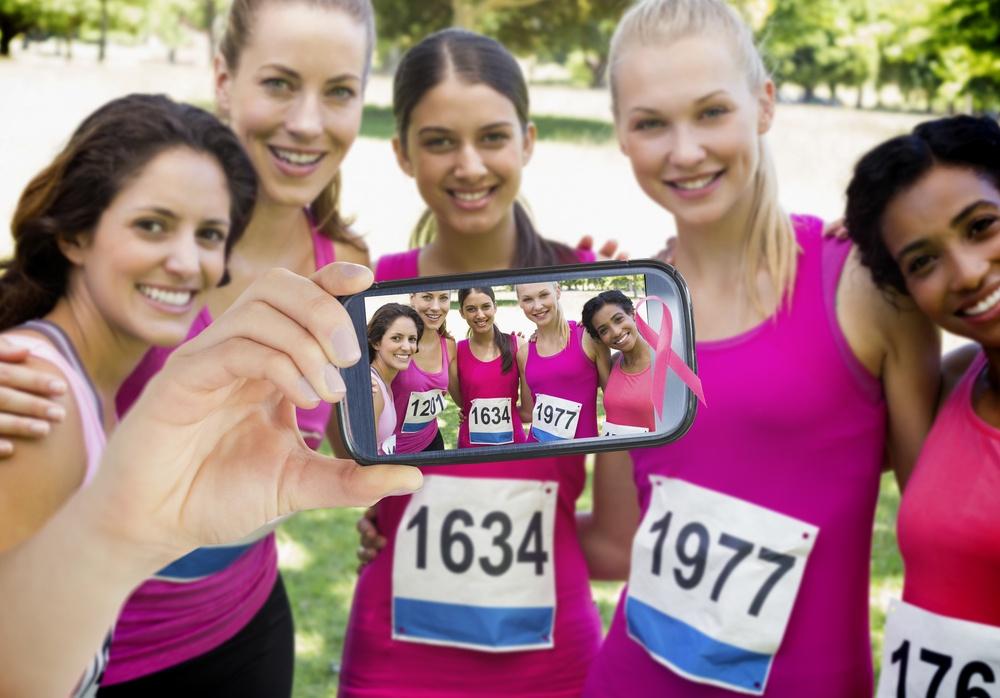 runners taking a selfie