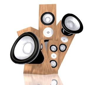 abstract music illustration with speakers over white.jpeg