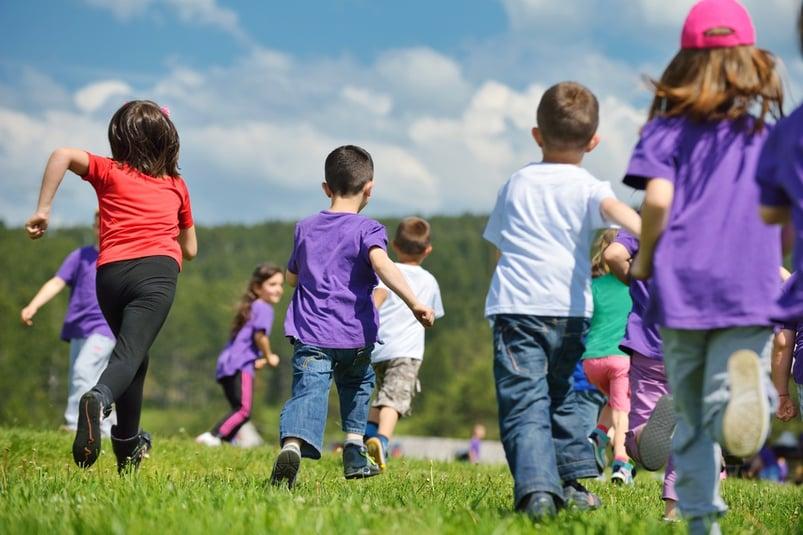 happy kids at fun run