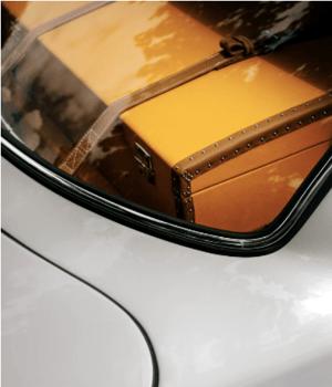 Suitcase in trunk