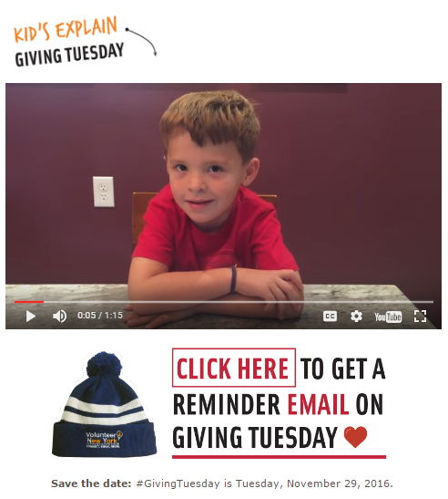 Use embedded video on your #GivingTuesday landing page