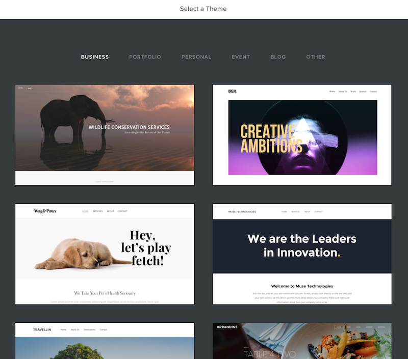 Weebly Select Theme