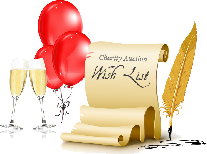 Charity Auction Party Wish List