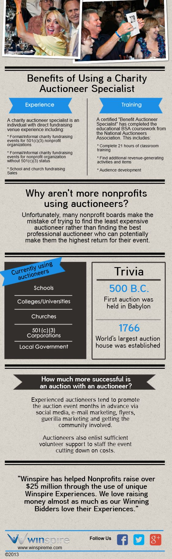 Benefits of Using an Auctioneer Infographic