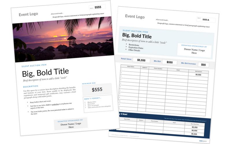 bid sheet display matching