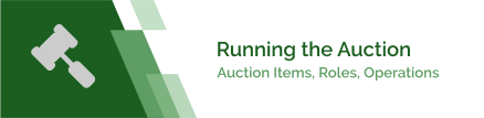 Auction Items, Roles & Operations