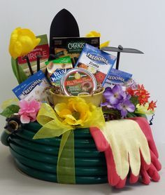 gardening silent auction gift baskets