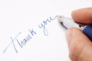 Thank You Handwritten Notes