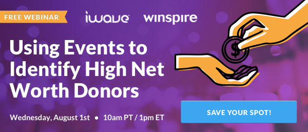 Sign up for webinar all about high net worth donors