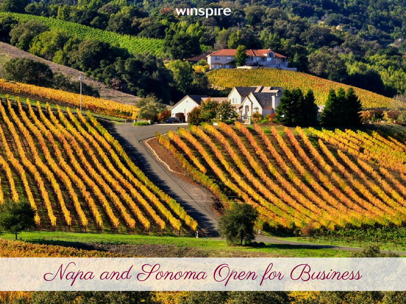 Napa and Sonoma 100% Open for Business: See what's new?