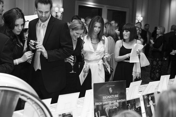 Silent auction luxury retailer