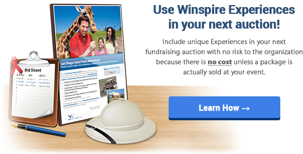 Use Winspire Experiences in your next auction!
