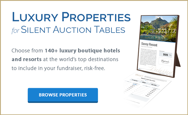 Luxury Properties for Silent Auction Tables